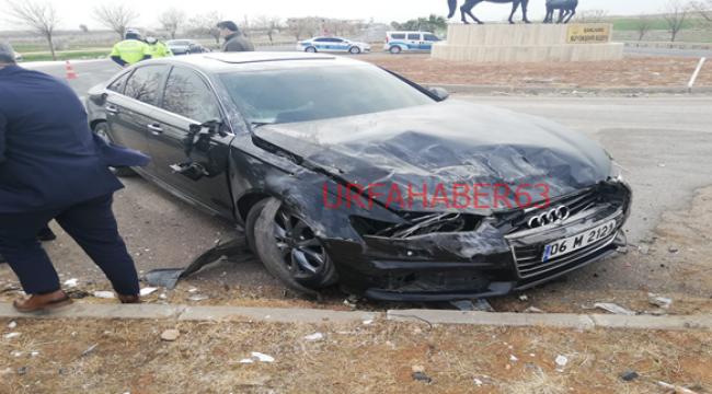 Urfa'da  İYİ Parti konvoyu kaza yaptı