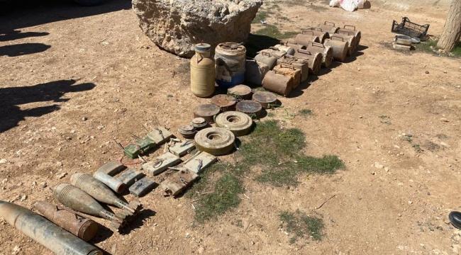 Urfa sınırında çok sayıda patlayıcı ele geçirildi