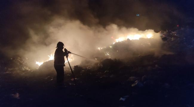 Şanlıurfa'da hurdalık alanda korkutan yangın!