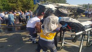Şanlıurfa'da kamyonun freni boşaldı, 1 ölü