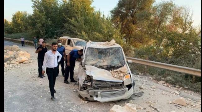 Urfa'da heyelan, 3 yaralı